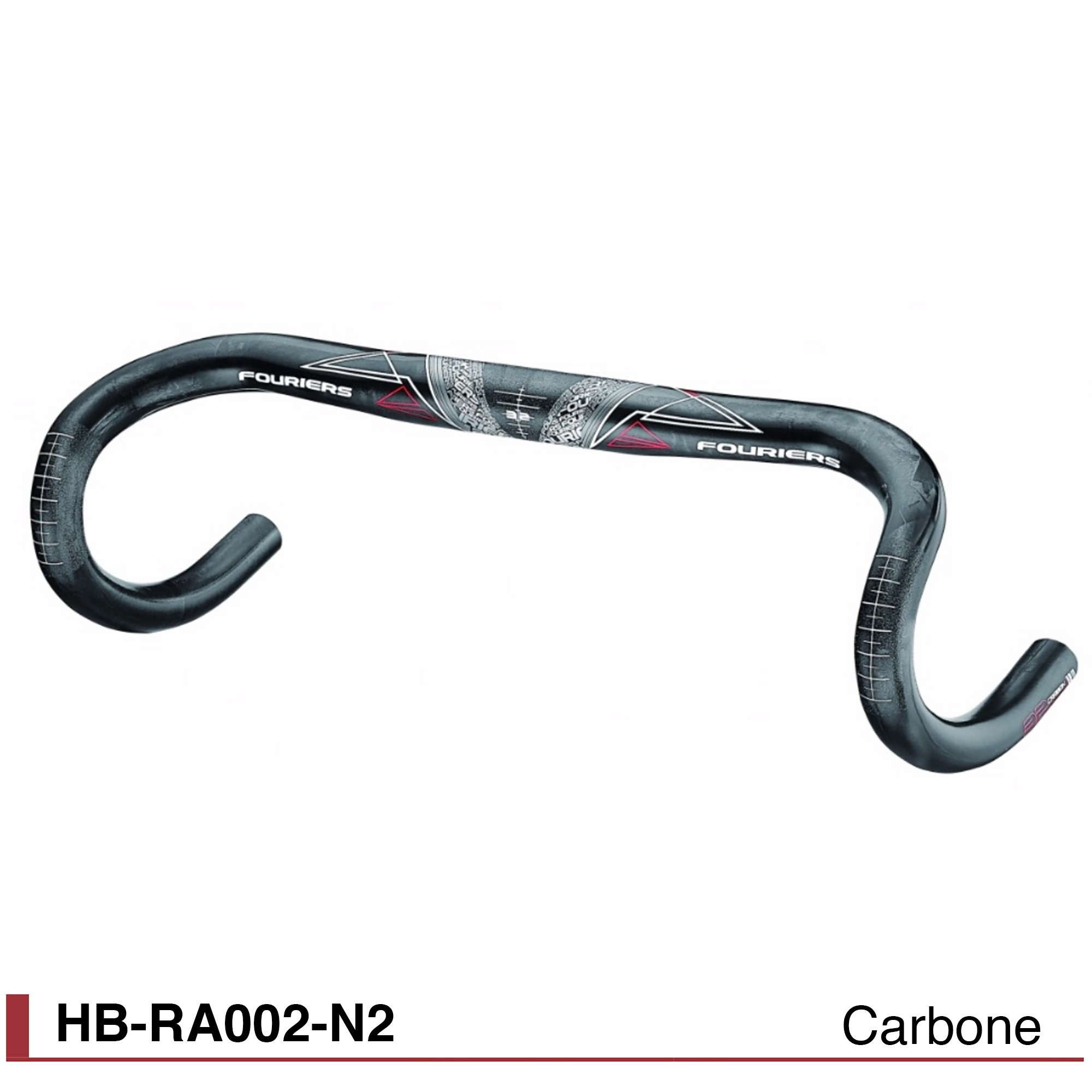 Cintre route Fouriers Carbone Compact Ø31,8 HB-RA002-N2