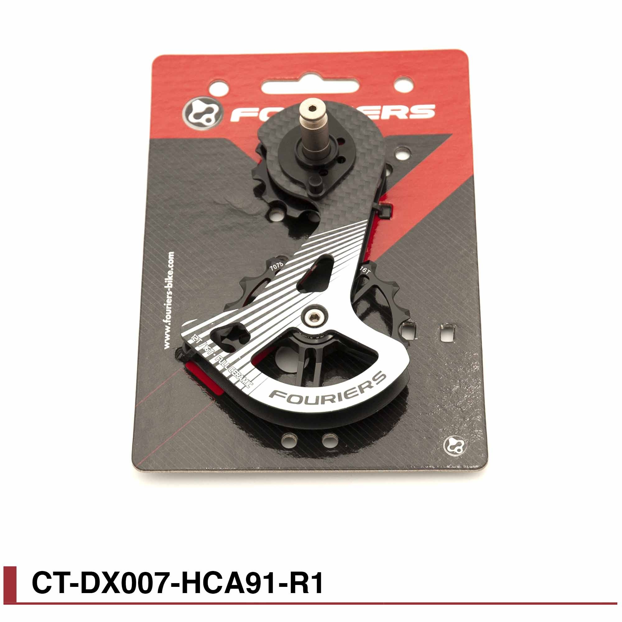 Chape grands galets Full ceramic carbone pour Shimano dura ace 9100/9150 Fouriers