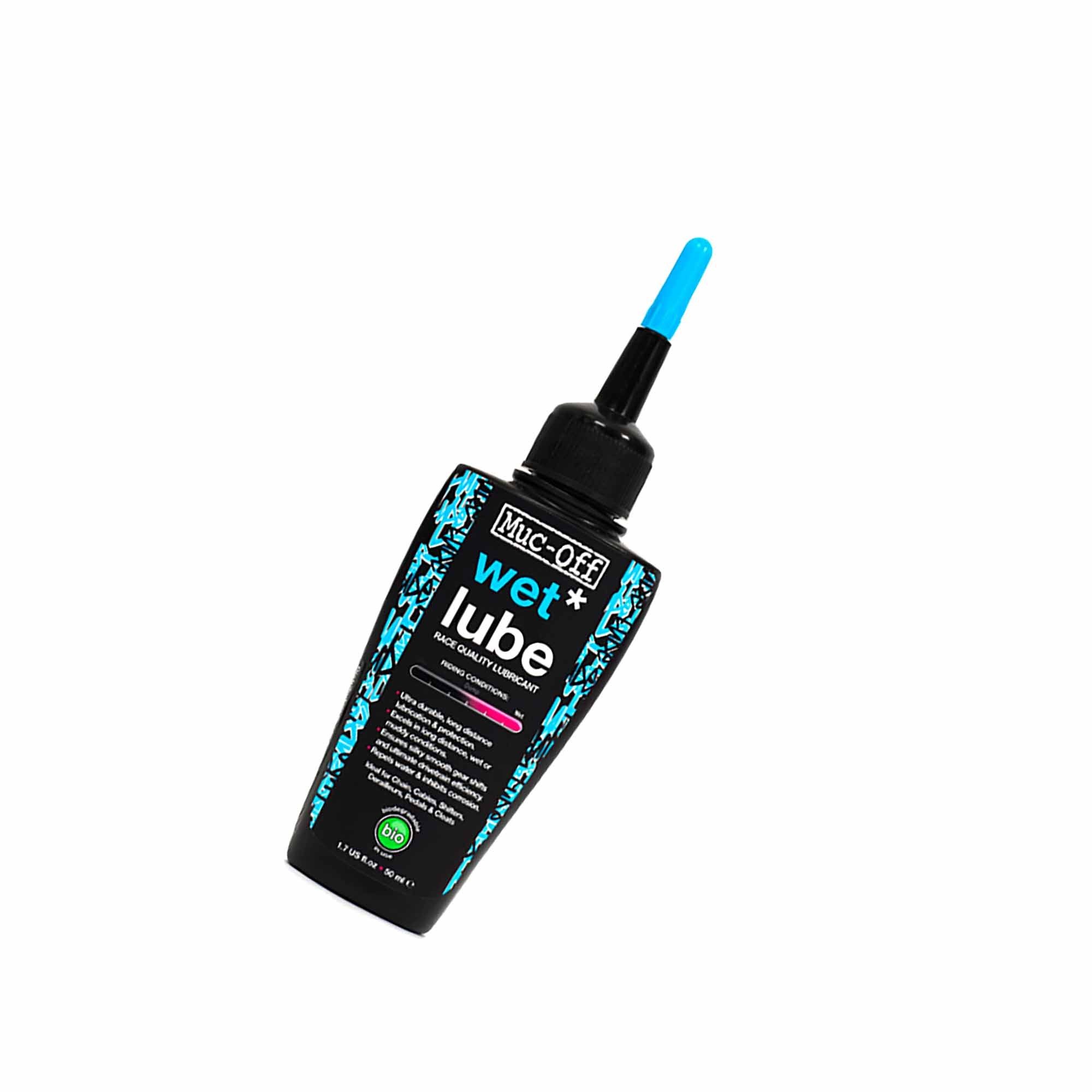 """Lubrifiant chaine Muc-Off conditions humides """"Wet Lube"""" 50ml"""