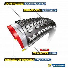Pneu Gravel Michelin Power Competition Line 700x40C Tubeless Ready